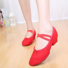 Women's Canvas Ballet With Lace-up Dance Shoes