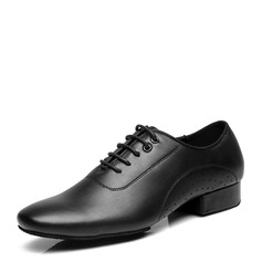 Men's Real Leather Latin Modern Ballroom Swing With Lace-up Dance Shoes (053146797)