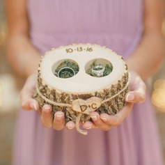 Personalized/Woodland Wood Ring Holder