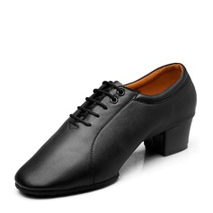 Men's Real Leather Practice With Lace-up Dance Shoes