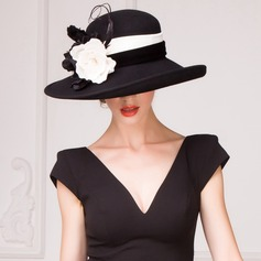 Dames Accrocheur Coton Chapeau melon / Chapeau cloche/Chapeaux Tea Party
