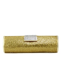 Charming Satin With Rhinestone Clutches