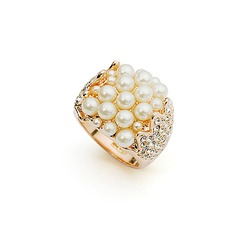 High Quality Alloy/Pearl With Rhinestone Ladies' Rings