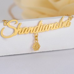 Personalized Ladies' Hottest Gold Plated Name Necklaces For Bridesmaid/For Mother