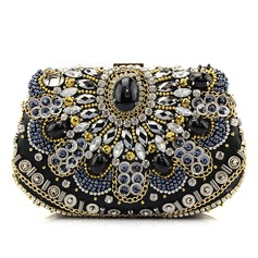 Fashional Satin/Crystal/ Rhinestone Clutches/Fashion Handbags