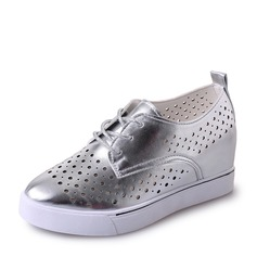 Women's suede With Lace-up Hollow-out Sneakers