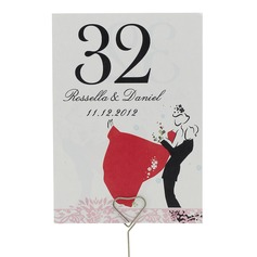 "Personalized ""Sweet Love"" Pearl Paper Table Number Cards"