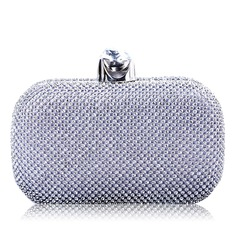 Attractive Faux Leather/Crystal/ Rhinestone/PU Clutches