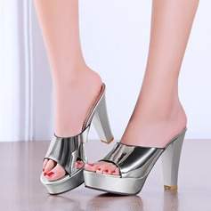 Women's Leatherette Chunky Heel Sandals Pumps Platform Peep Toe Slingbacks shoes