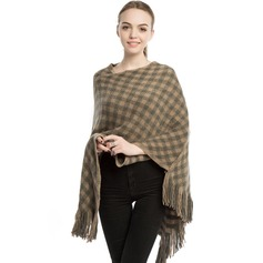 Plaid/Retro/Vintage Oversized/fashion/simple Cashmere Poncho