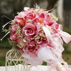 Pretty Round Satin Bridal Bouquets