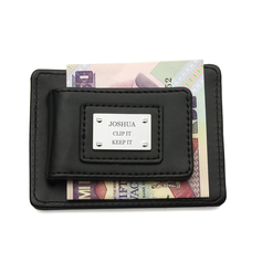 Personalized Stainless Steel/Leather/Magnet Money Clips/Card Case