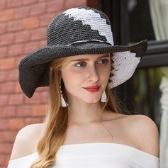 Ladies' Simple Polyester Floppy Hat