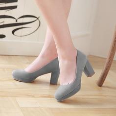 المرأة جلدي كعب مكتنز مضخات منصة تو مغلقة مع آخرون أحذية