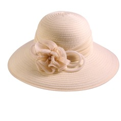 Ladies' Beautiful/Fashion Polyester With Flower Floppy Hat/Beach/Sun Hats