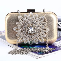 Lovely Crystal/ Rhinestone/PU Clutches/Satchel