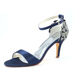 Women's Plastics Stiletto Heel Peep Toe Platform With Applique
