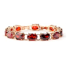 Exquisite Copper/Zircon/Gold Plated Ladies' Bracelets