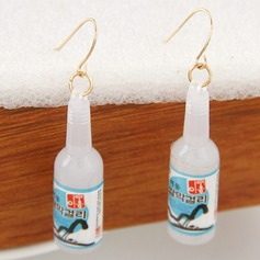 Unique Alloy Resin Ladies' Fashion Earrings