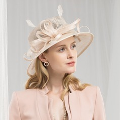 Ladies' High Quality/Romantic/Vintage Cambric With Feather Fascinators/Kentucky Derby Hats/Tea Party Hats