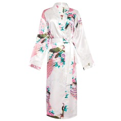 Polyester Charmeuse Bride Bridesmaid Mom Floral Robes
