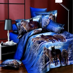 Traditional/Classic Polyester Comforters (4pcs :1 Duvet Cover 1 Flat Sheet 2 Shams) (203084267)