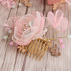Ladies Charming Organza Combs & Barrettes