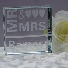 "Personalized ""Mr. & Mrs."" Crystal Cake Topper"