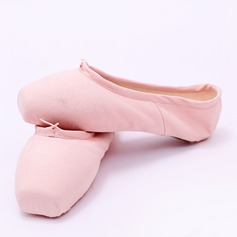 Women's Canvas Flats Pointe Shoes Dance Shoes