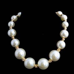 Elegant Pearl With Rhinestone Ladies' Necklaces