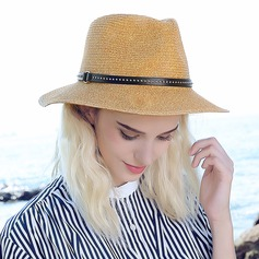 Ladies' Fashion/Classic Raffia Straw With Rivet Straw Hat/Beach/Sun Hats