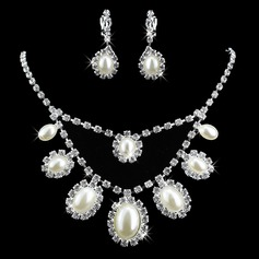 Beautiful Alloy/Pearl With Rhinestone Ladies' Jewelry Sets