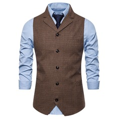 Formal Check Men's Vest