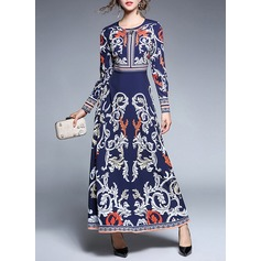 Polyester With Print Maxi Dress (199134233)
