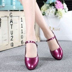 Leatherette Heels Pumps Character Shoes With Buckle Dance Shoes