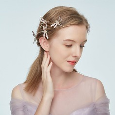 Ladies Handmade Alloy Hairpins With Rhinestone/Venetian Pearl (Sold in single piece)