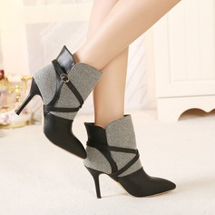 Women's Suede Leatherette Stiletto Heel Boots Ankle Boots shoes (088105451)