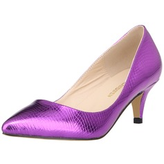 Women's Leatherette Cone Heel Pumps Closed Toe With Animal Print shoes