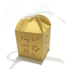 Nice Pearl Paper Favor Boxes & Containers With Ribbons