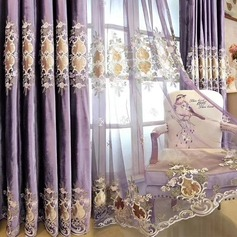 punch fixing,Sheer Horizontal bar Curtains Shades Living Room Polyester Jacquard(Contain Tulle) (Sold in a single piece)
