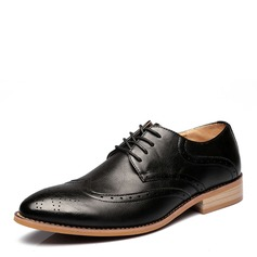Men's Real Leather Lace-up Brogue Casual Men's Oxfords