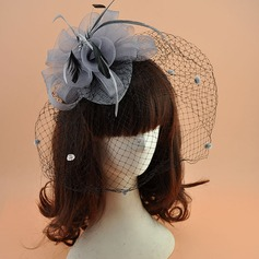 Ladies' Vintage Organza With Feather Fascinators/Tea Party Hats