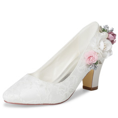 Women's Lace Pumps With Applique