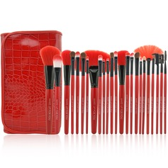 24 Pcs Synthetic Hair Makeup Brush Set With Pouch