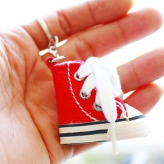 Red Canvas shoes Keychain Favor