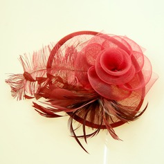 Ladies Beautiful Feather/Cambric Forehead Jewelry/Hats