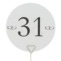 Round Pearl Paper Table Number Cards