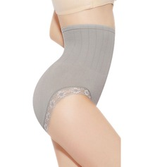 Women Casual Cotton/Lace Breathability High Waist Panty Shapers With Lace Shapewear