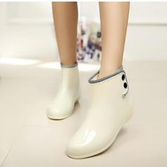 Women's PVC Low Heel Boots Mid-Calf Boots Rain Boots With Rivet shoes (088127039)