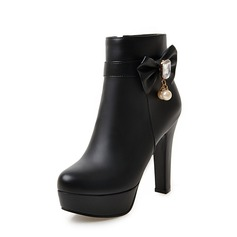 Women's Chunky Heel Pumps Platform Boots shoes